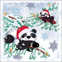 Servilletas 33x33 cm - Pandas In Snow