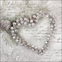 Servilletas 33x33 cm - Heart Of Pearls
