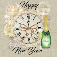 Servilletas 33x33 cm - Happy New Year