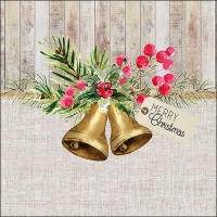 Servilletas 33x33 cm - Christmas Bells