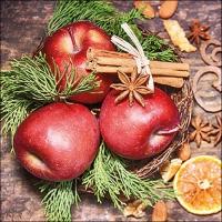 Tovaglioli 33x33 cm - Winter Apples