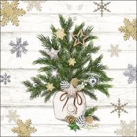Serviettes 33x33 cm - Decorated Branches
