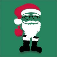 Servilletas 33x33 cm - Invisible Santa Green