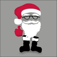 Napkins 33x33 cm - Invisible Santa Grey