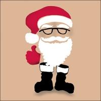 Servilletas 33x33 cm - Invisible Santa Brown