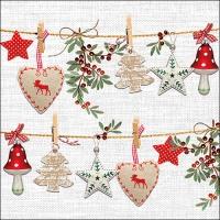 Servilletas 33x33 cm - Rustical Christmas
