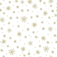 Serviettes 33x33 cm - Crystals All Over Gold