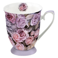 Porcelain Cup -  Winter Roses