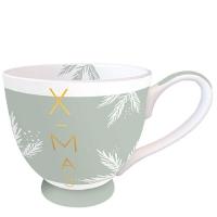 Porcelain Cup -  X-Mas Green