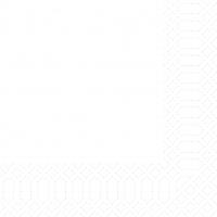 Cellulose napkins 33x33 cm - weiß