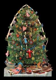 Imágenes brillantes con mica dorada - Weihnachtsbaum