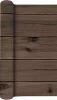 Tablerunners - TL Wooden Planks dark brown
