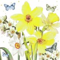 Servietten 25x25 cm - Watercolor Narcissus