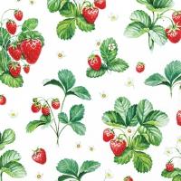 Servilletas 25x25 cm - Strawberry Pattern