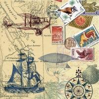 Serwetki 33x33 cm - Around the World