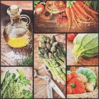 Serviettes 33x33 cm - Fresh Vegetables