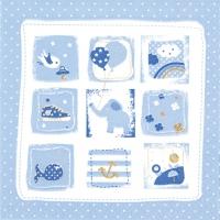 Serviettes 33x33 cm - Little One blue