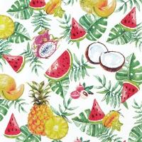 Serviettes 33x33 cm - Exotic Fruits
