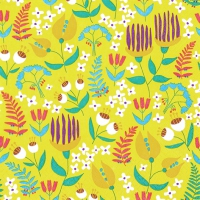 Napkins 33x33 cm - Tropical Flora sunny