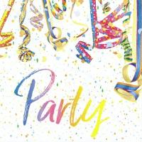 Napkins 33x33 cm - Colourful Party