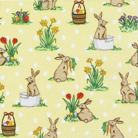 Napkins 33x33 cm - Little Rabbits