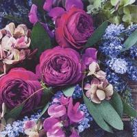 Napkins 33x33 cm - Rich Flowers