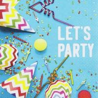 Napkins 33x33 cm - Lets Party