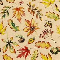 Napkins 33x33 cm - Leaves allover