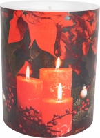 vela decorativa - Candlelight Poinsettia 99 mm