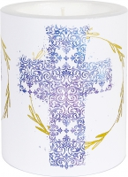 decorative candle - LC Cross blue 99