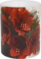 vela decorativa - Red Amaryllis 99 mm
