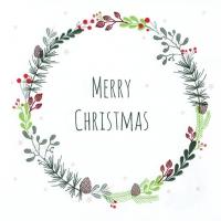 Napkins 33x33 cm - Lucia: Merry Christmas