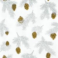 Napkins 33x33 cm - Pine Cones white