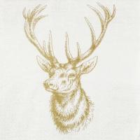 Servilletas 33x33 cm - Classic Deer