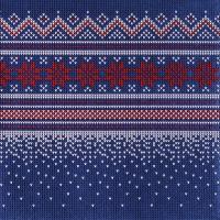 Serviettes 33x33 cm - Knitted dark blue