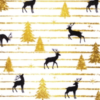 Serviettes 33x33 cm - Stags and Trees
