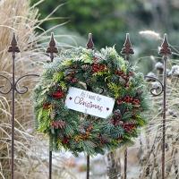 Servietten 33x33 cm - Wreath on a Fence