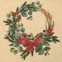 Serviettes 33x33 cm - Natural Wreath