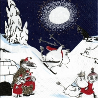 Napkins 24x24 cm - Winter Moomin db