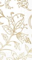 Servilletas de buffet - GOLDEN FLOWER white gold