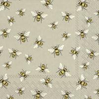 Napkins 25x25 cm - LOVELY BEES linen