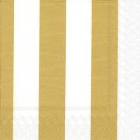 Servilletas 25x25 cm - KAKSI RAITAA gold