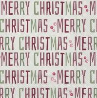 Servietten 25x25 cm - WINTER MERRY CHRISTMAS linen