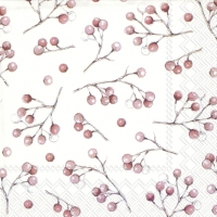 Servietten 25x25 cm - WINTER BERRIES white