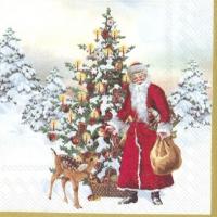 Serviettes 25x25 cm - ANNUAL CHRISTMAS SANTA V&B