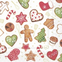 Serviettes 25x25 cm - COOKIES AND BAKERY