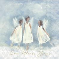 Servietten 25x25 cm - LOVE PEACE HOPE