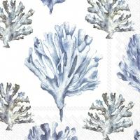 Napkins 25x25 cm - CORAL white