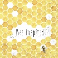 Serwetki 25x25 cm - BEE INSPIRED yellow