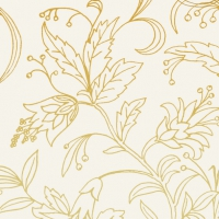 Servietten 25x25 cm - GOLDEN FLOWER cream gold